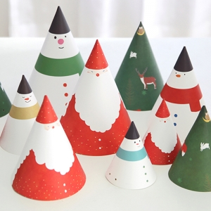 Christmas Party Conical Hat Set